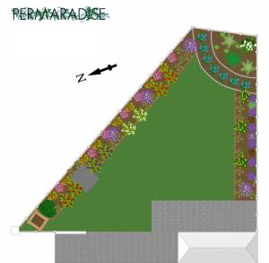 Garden design - shrub and ground layer