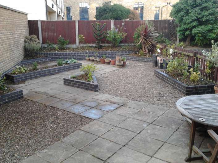 Garden after planting and tidying